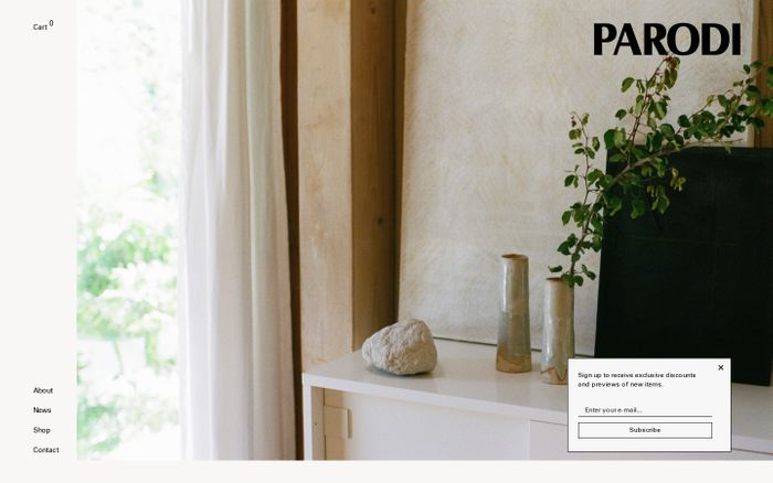 Screenshot of Parodi – Website