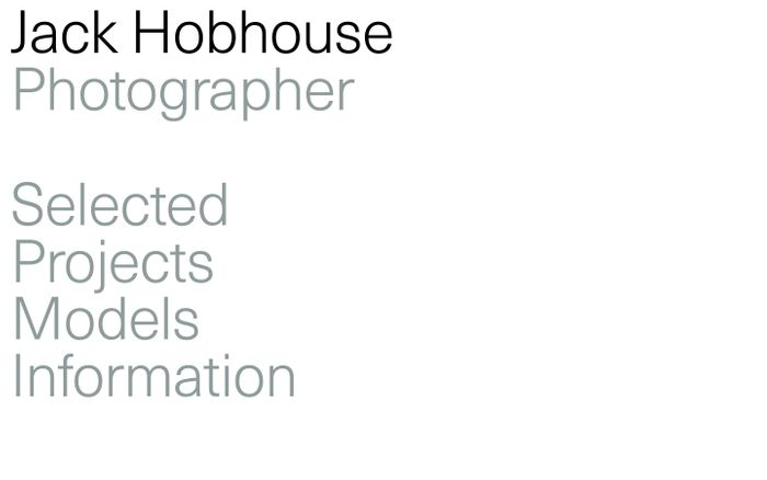 Screenshot of Jack Hobhouse website