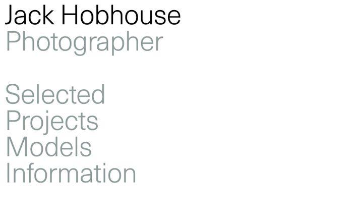 Screenshot of Jack Hobhouse website