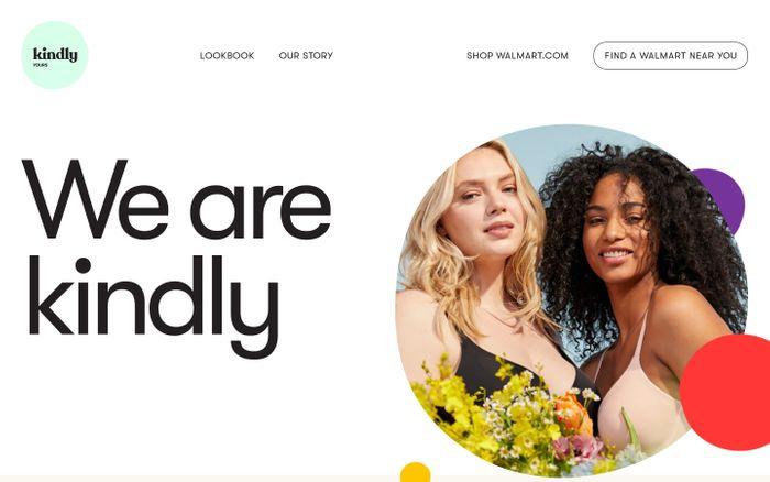 Screenshot of Kindly website