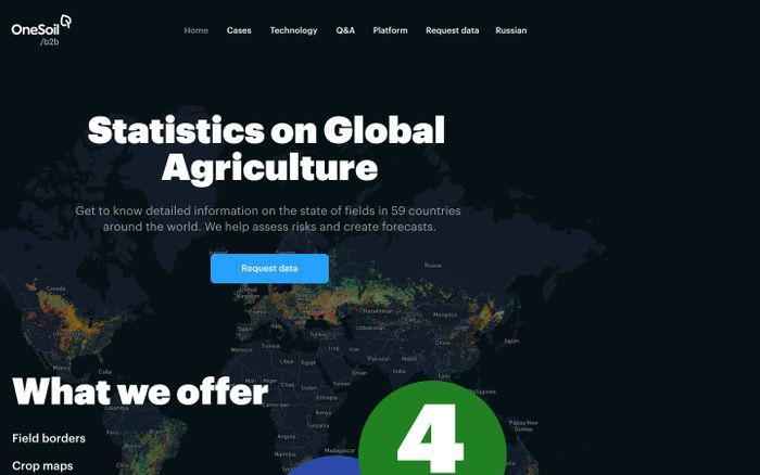 Screenshot of Onesoil website