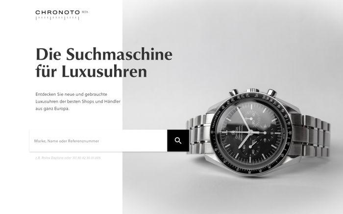 Screenshot of Chronoto - Luxusuhren vergleichen & kaufen website
