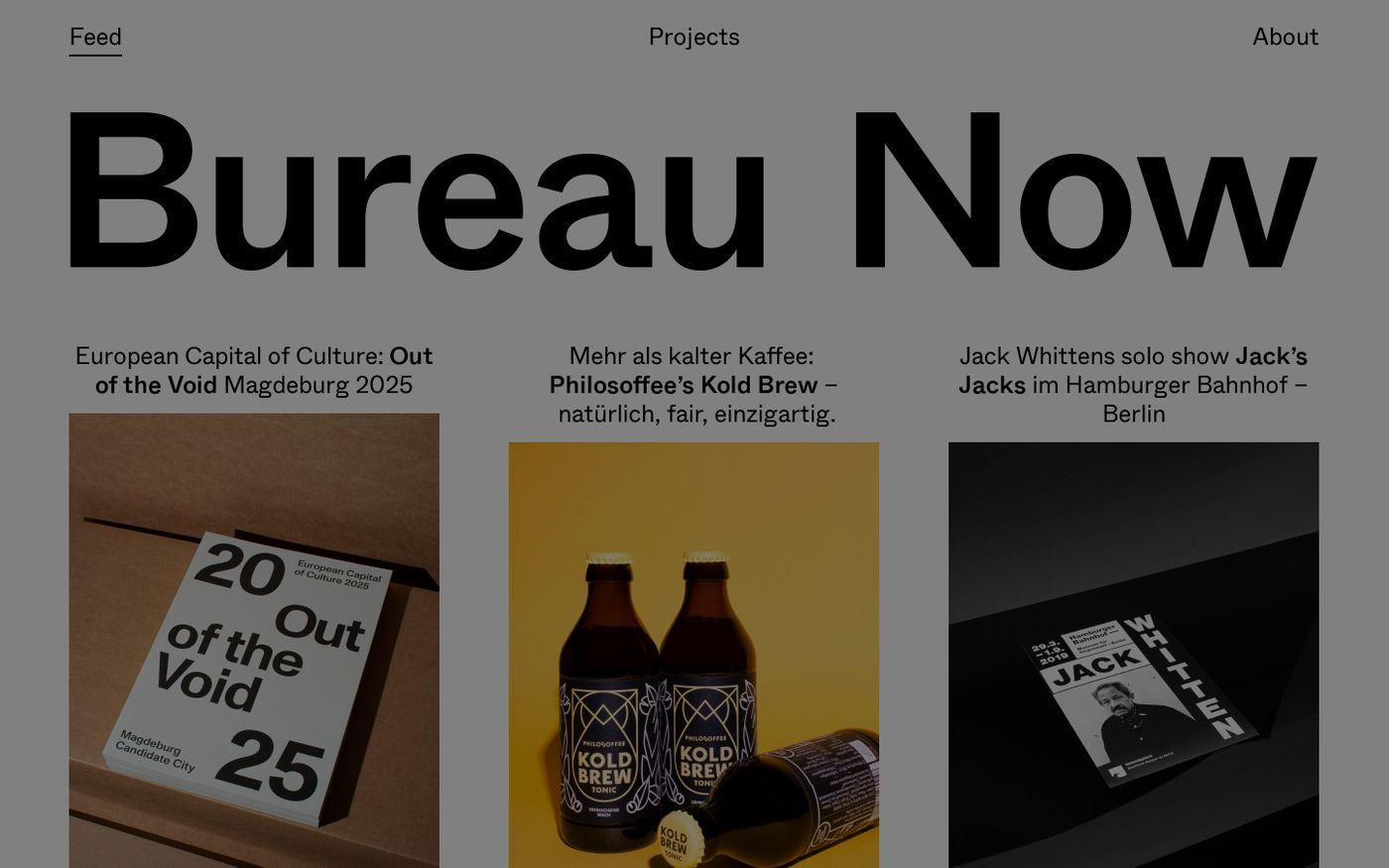 Screenshot of Bureau Now website