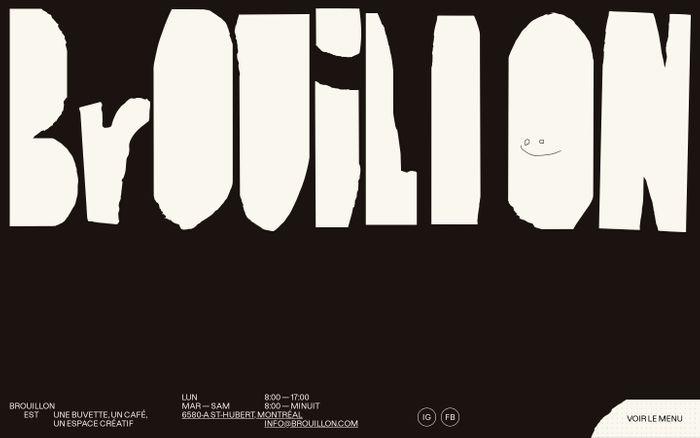 Screenshot of Brouillon website
