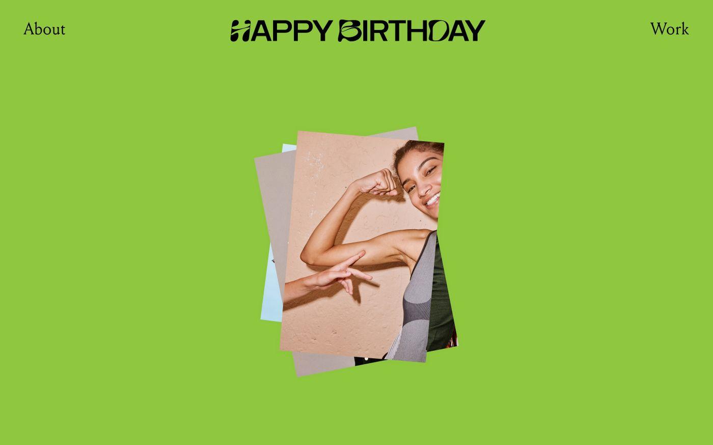 Screenshot of Happy birthday website