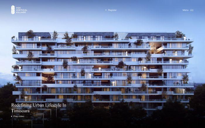 Screenshot of Premium apartments in Timisoara – Vox Vertical Village