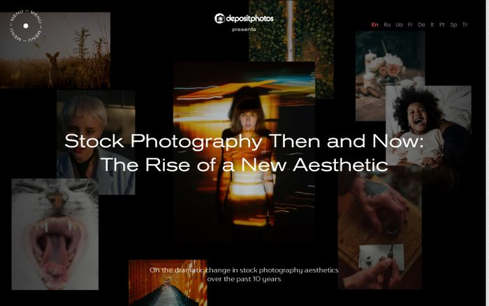Screenshot of Evolution of Stock Photography Aesthetics