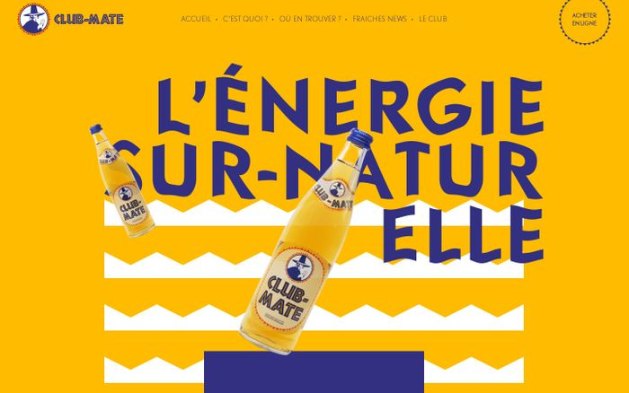 Screenshot of Club-Mate, l'énergie sur-naturelle