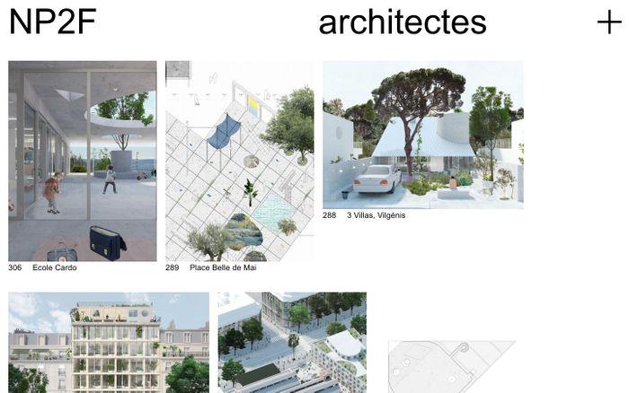 Screenshot of NP2F — architectes