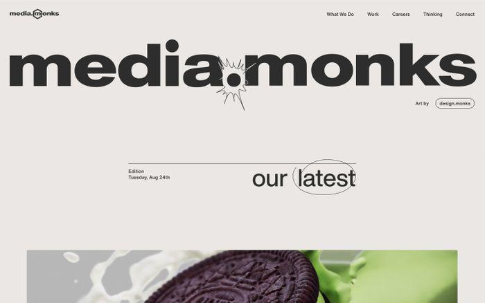 Screenshot of Media.Monks website