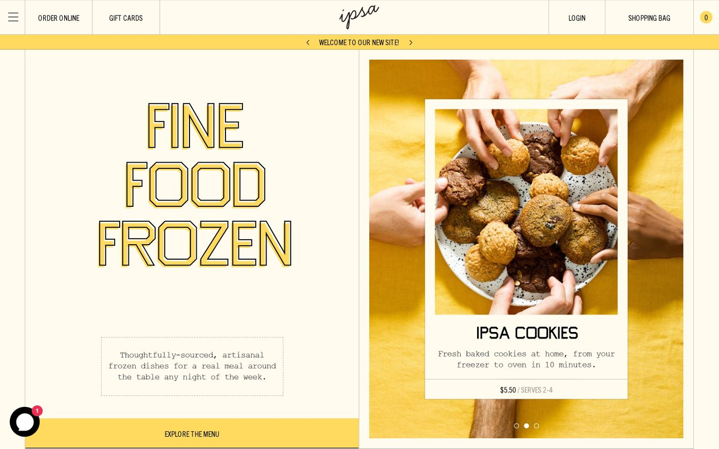 Screenshot of Ipsa provisions website