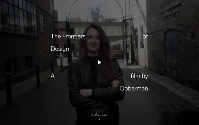 Screenshot of Frontiers of Design