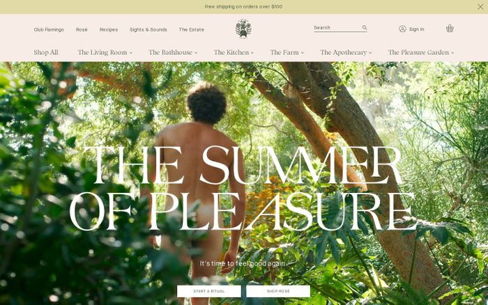 Screenshot of Flamingo Estate website