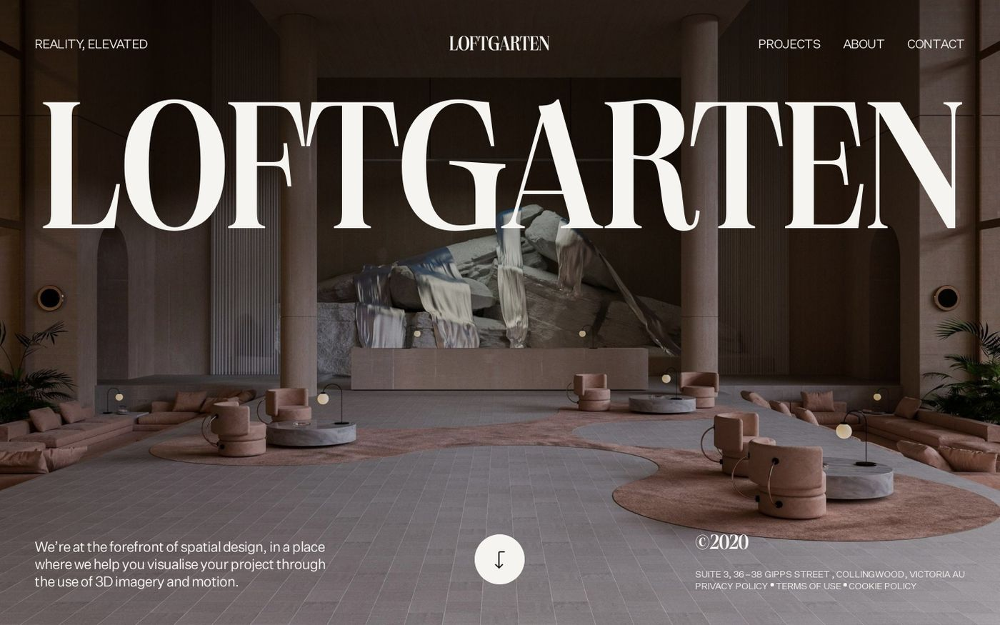 Screenshot of Loftgarten website