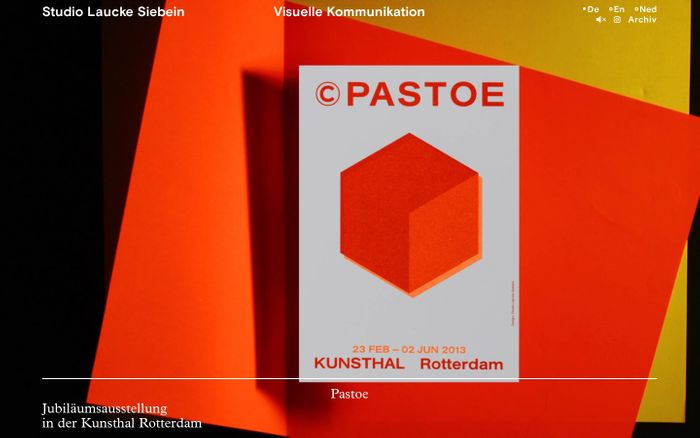 Screenshot of Studio Laucke Siebein – Agentur für visuelle Kommunikation