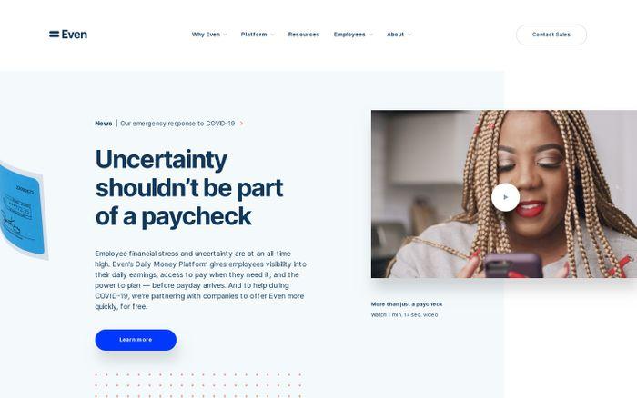 Screenshot of Even.com
