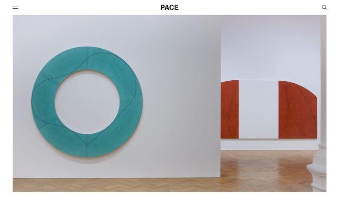 Screenshot of Pace Gallery website