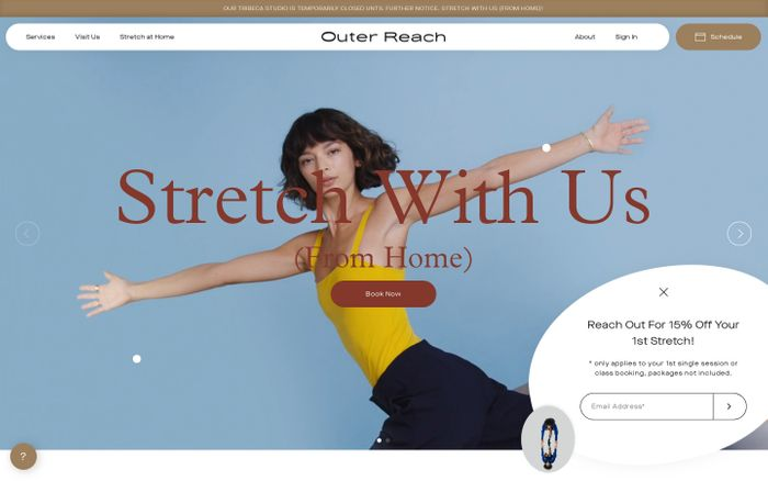 Screenshot of Outer Reach Stretch Studio Tribeca | 1on1, Group Stretching Classes NYC