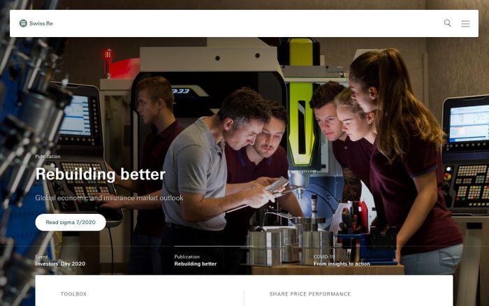 Screenshot of Swiss Re Group | Swiss Re