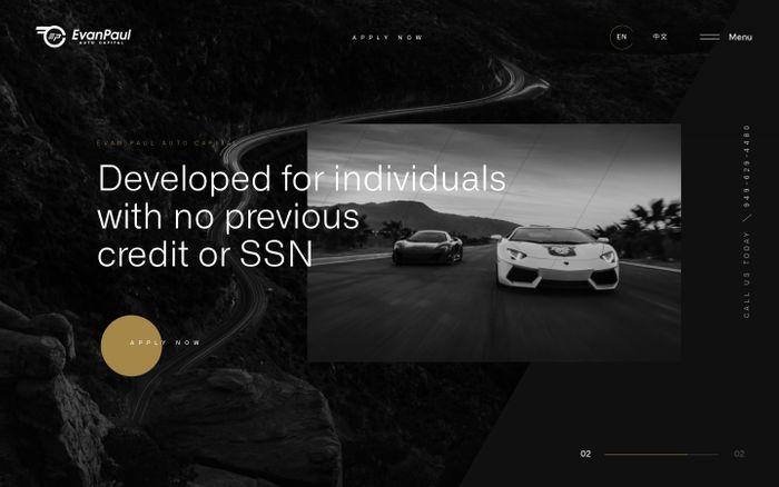 Screenshot of loan products   Evan Paul Auto Capital website