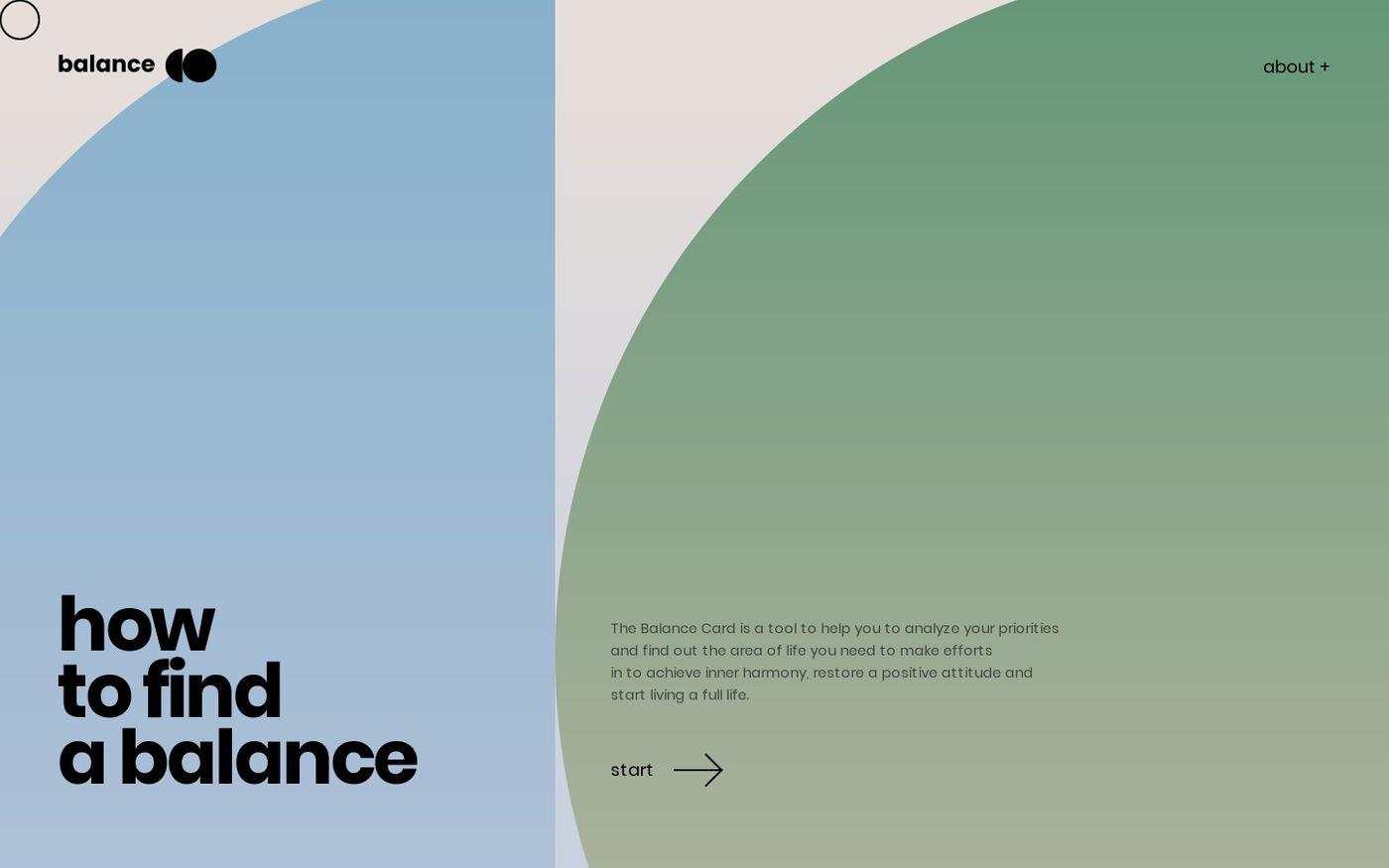 Screenshot of Balance website