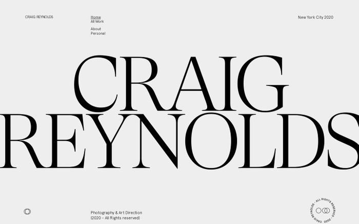 Screenshot of Craig Reynolds website