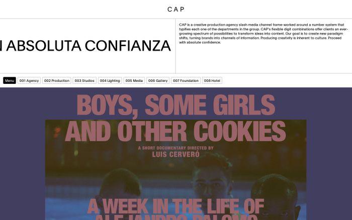 Screenshot of CAP