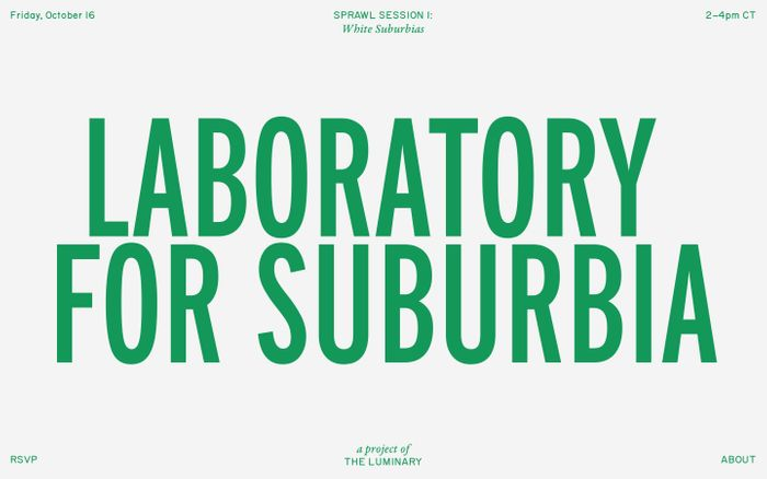 Screenshot of Laboratory for Suburbia