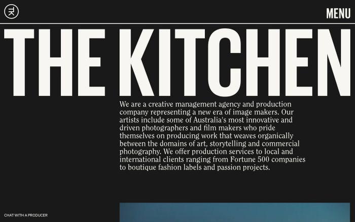 Screenshot of The Kitchen website