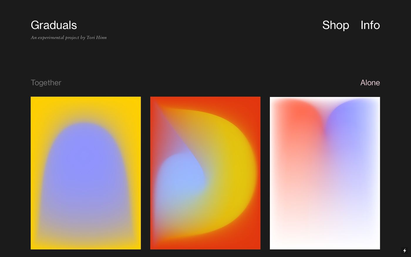 Screenshot of Gradients daily website
