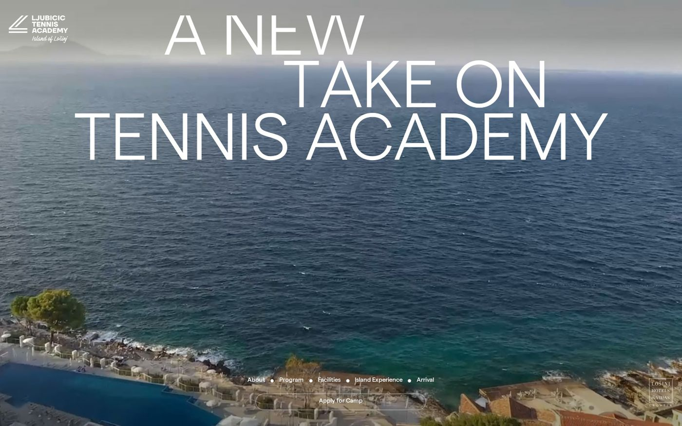 Screenshot of Ljubicic Tennis Academy website