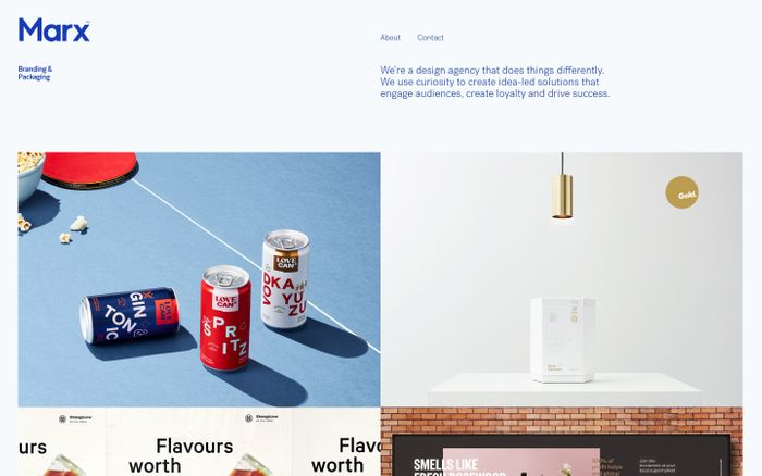 Screenshot of Marx Design Ltd | Branding & Packaging