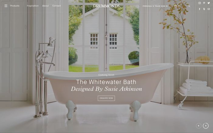 Screenshot of Classic Luxury Bathroom Products | Drummonds Bathrooms