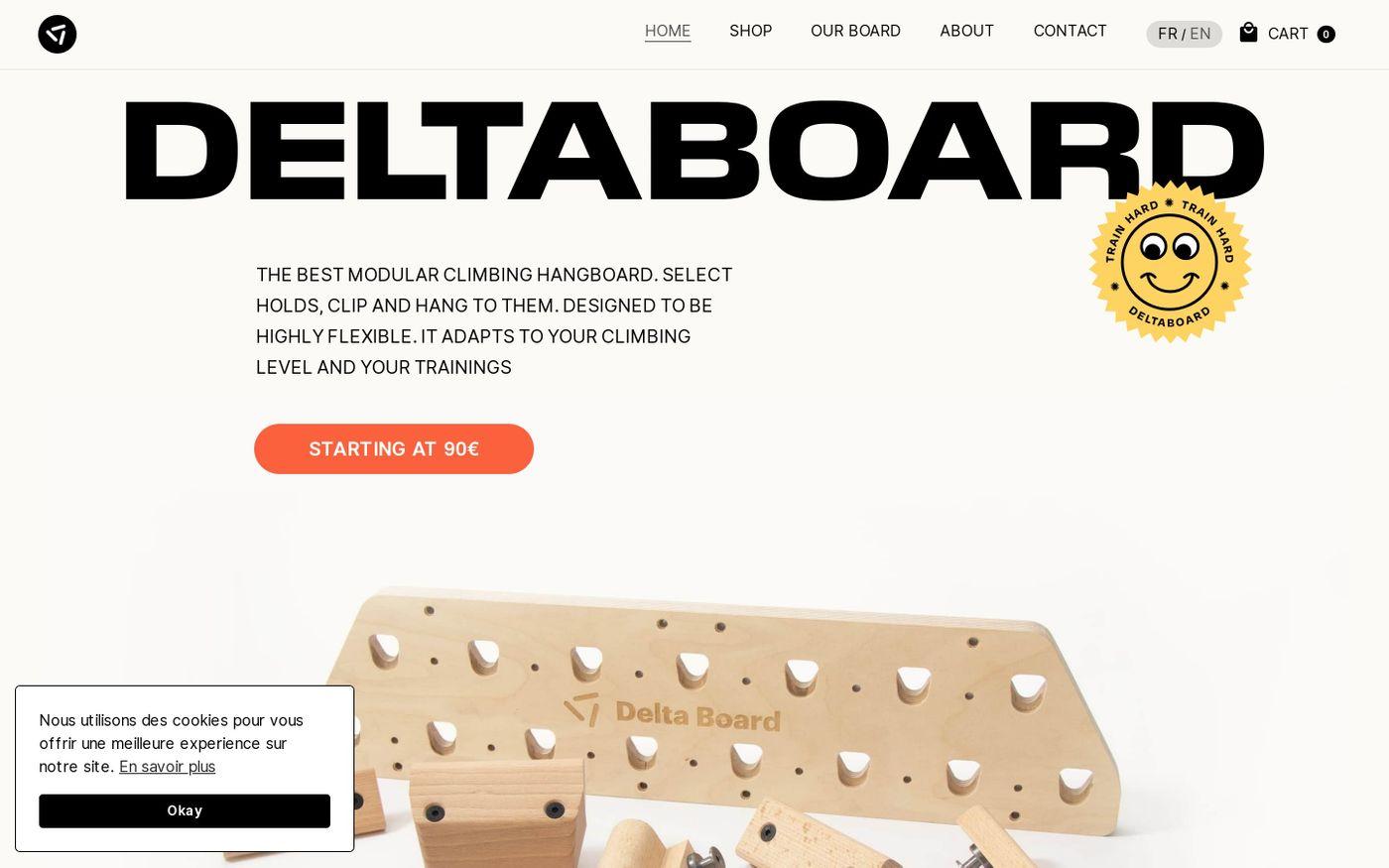 Screenshot of Deltaboard website