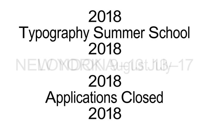 Screenshot of Typography Summer School 2018 | Typography Summer School 2018