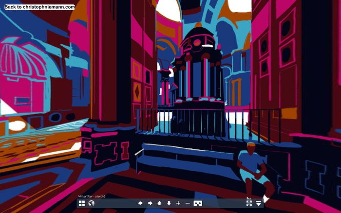 Screenshot of cadiz cathedral VR christoph niemann