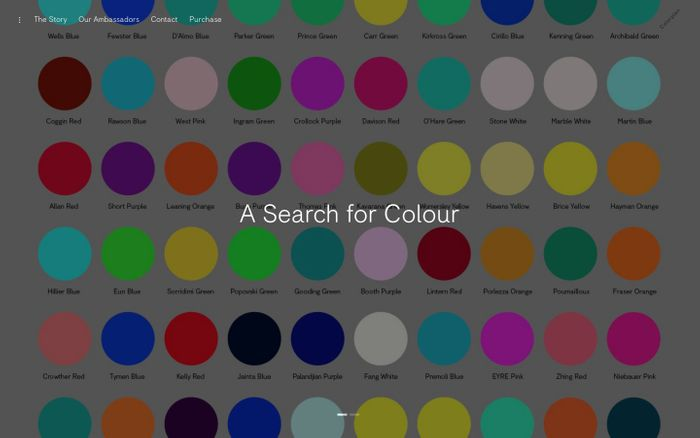 Screenshot of World's Favourite Colour