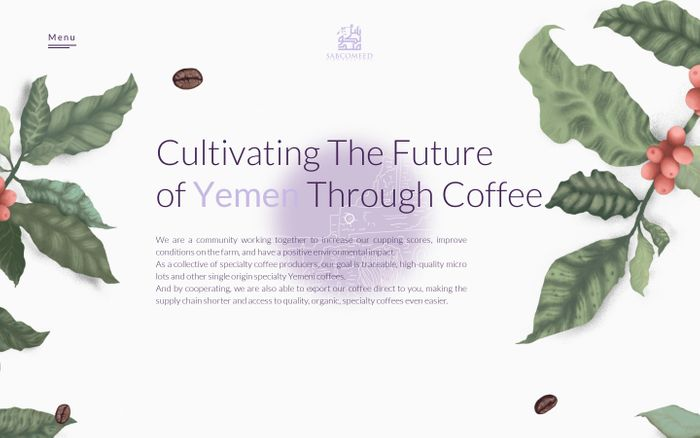 Screenshot of  Sabcomeed | Homepage | Yemeni Coffee