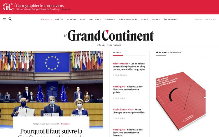Screenshot of Le Grand Continent website