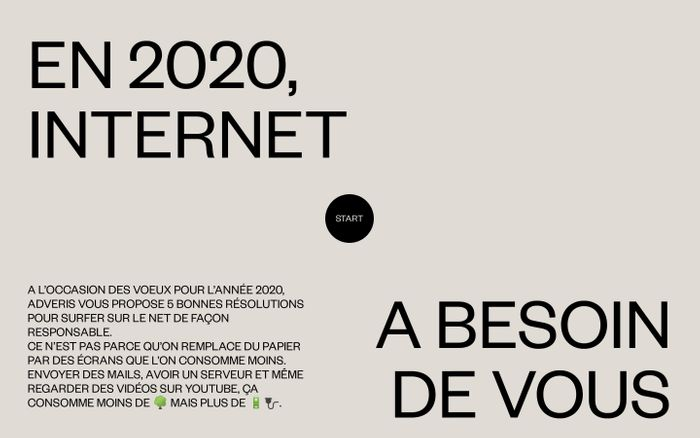 Screenshot of Voeux Adveris 2020