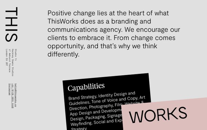 Screenshot of This Works - Branding, Design and Digital Creative Agency.