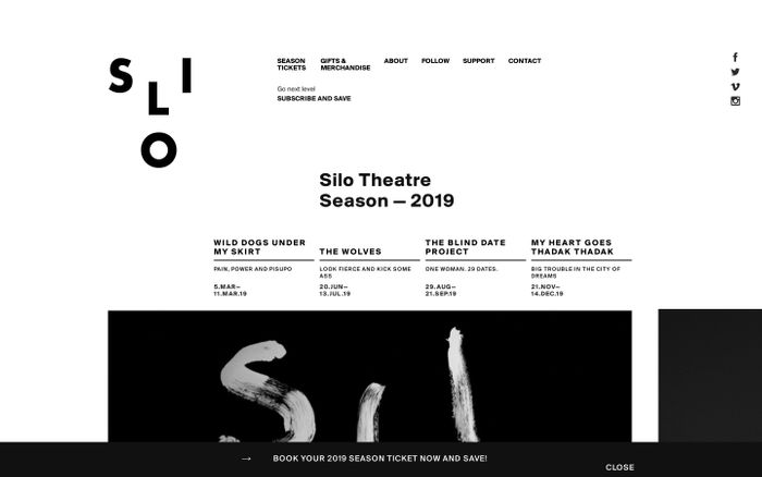 Screenshot of 2019 — Silo Theatre
