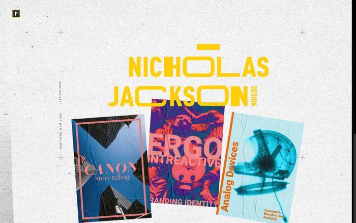 Screenshot of Nicholas Jackson Design