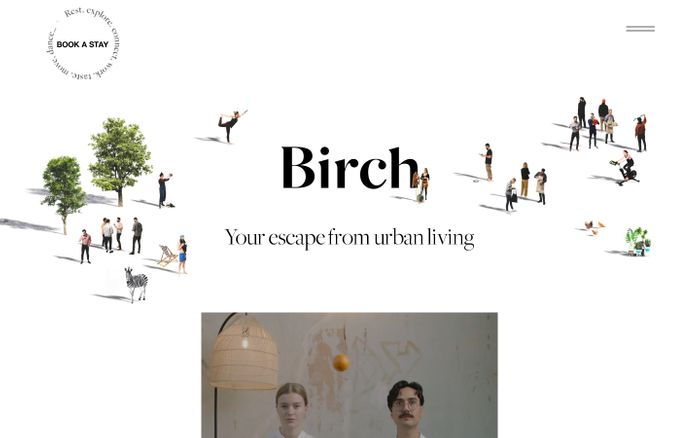 Screenshot of Birch