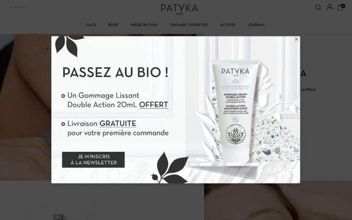 Screenshot of PATYKA - Parisian organic cosmetics company - Patyka
