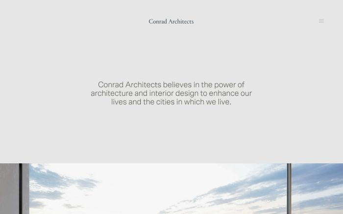 Screenshot of Conrad Architects