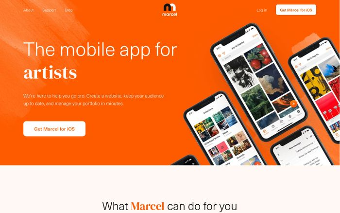 Screenshot of Marcel – mobile platform for the next generation of artists | Marcel – mobile platform for the next generation of artists