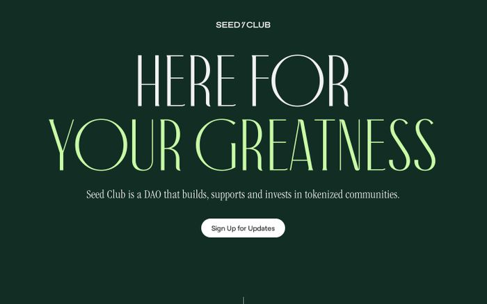 Screenshot of Seed Club website