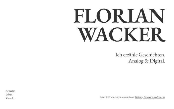 Screenshot of Florian Wacker
