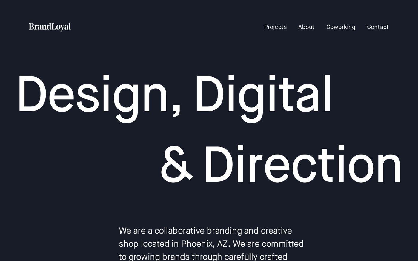 Screenshot of Home — BrandLoyal website